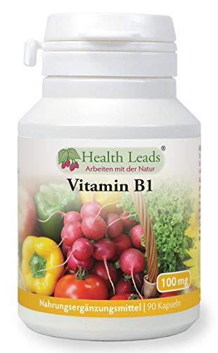 Vitamin B1 100mg x 90 Kapseln, Frei von Magnesiumstearat & üblen Zusätzen, Leicht zu schluckende kleine Kapsel, Thiamin trägt zum gesunden Stoffwechsel und gesunder Herzfunktion bei, Hergestellt in Wales