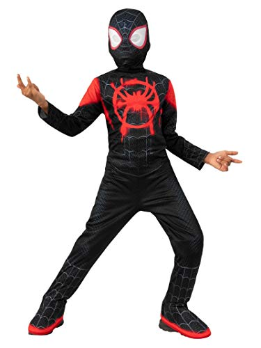 Rubie's Spider-Man: Into The Spider-Verse Child's Mile Morales Spider-Man Costume Jumpsuit & Mask, Small