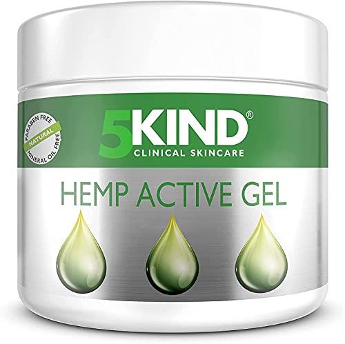 5kind Pomata alla Canapa 300ML Gel per Massaggi con Formula Naturale ad Alta Concentrazione di Olio di Canapa ed Estratti Naturali