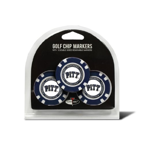 Team Golf Womens 23788 Pitt Panthers 3 Pack Golf Chip Ball Markers Multi Team Color One Size