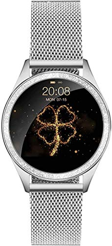 JSL Rastreador de actividad de la actividad de las mujeres s reloj inteligente de moda de 1.04 pulgadas Fitness pulsera monitoreo de frecuencia cardíaca recordatorio fisiológico-1