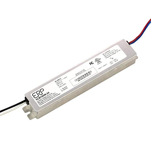 ERP VLM100W-24 Constant Voltage DC Power Compact LED Driver 24V 4A 96W UL Class 2 for LED Lights and Lighting