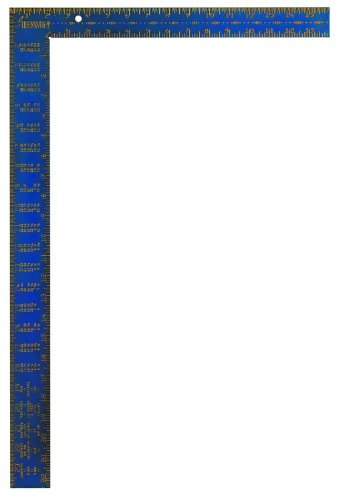 IRWIN Tools Framing Square, Hi-Contrast Aluminum, 16-Inch by 24-Inch (1794447) , Blue