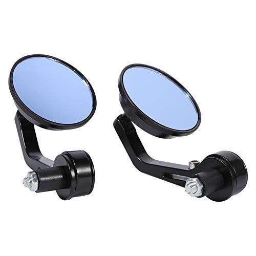 Espejos de motocicleta universales Espejo lateral de barra de manillar de 7/8'Retrovisor lateral Espejos laterales de cromo de 3 pulgadas redondos para moto Scooter