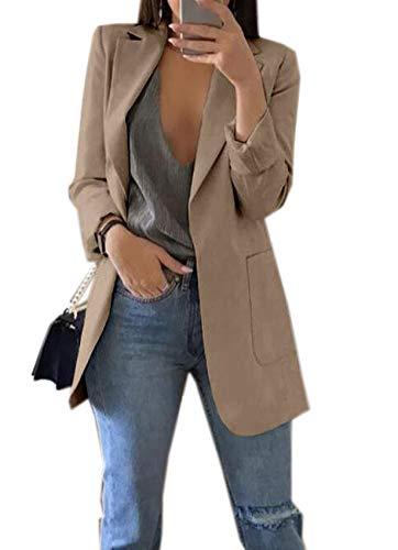 Herfst en winter mode revers slank vest temperament pak jas vrouwen - groen - 5XL