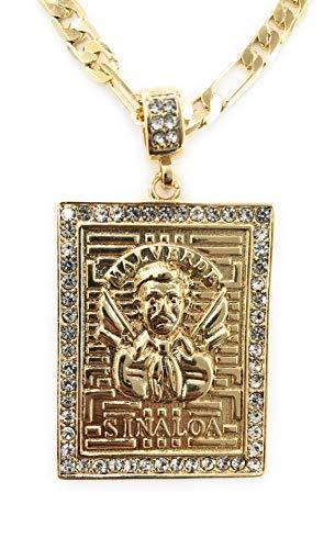 Merajjewelry Jesus Malverde Sinaloa Necklace