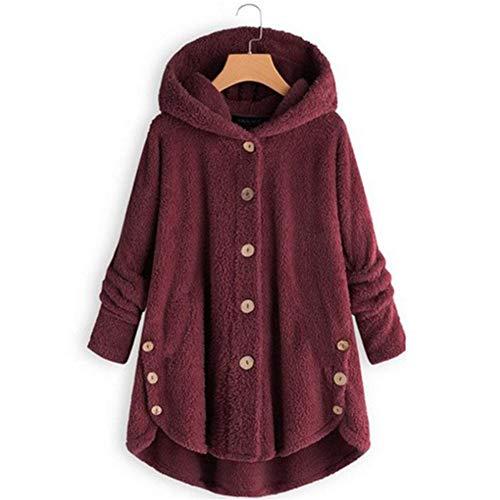 Dames Fluffy Sweater, Fleece Hooded Jas Pluche Oversized Housecoat voor Winter Warm Paar Kerstcadeau