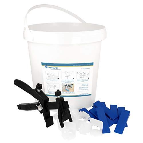 Lantelme 7088 Beginner Box Kit de nivellement pour joints de 1 mm de largeur et épaisseur de plaques de 3 à 15 mm