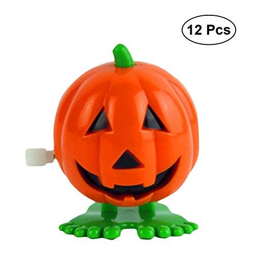 BESTOYARD Halloween Kürbisse Springen Wind up Spielzeug Lächeln Gesicht Kürbis Party Favor Halloween Goody Tasche Vorschule Spielzeug Für Kinder Geschenk Pack 12 STÜCKE