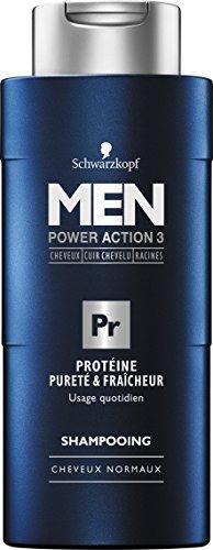 Schwarzkopf - Shampooing Protéine - Pureté/Fraîcheur pour Homme 250 ml - Lot de 3