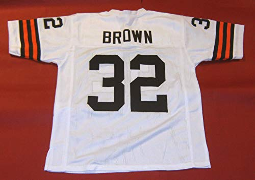 JIM BROWN WHITE CLEVELAND CUSTOM STITCHED NEW FOOTBALL JERSEY MEN'S XL