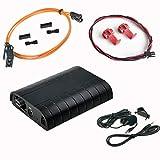 LaPower Kit adaptateur mains libres Bluetooth A2DP USB SD AUX MP3/WMA pour voiture Fibre optique