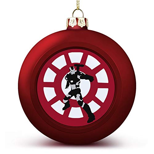 VNFDAS War Machine Black And White Custom Christmas ball ornaments Beautifully decorated Christmas ball gadgets Perfect hanging ball for holiday wedding party decoration
