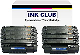 InkClub Remanufactured Toner Cartridge Compatible With Q5949A, 49A Black Toner Use for LaserJet 1160, 1320, 3390, 3392 (8 Pack)