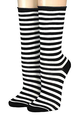 CRÖNERT Socken Longsocks Söckchen im Design Kieler Ringel Socken 18808 (39/42, schwarz-weiß 1001)
