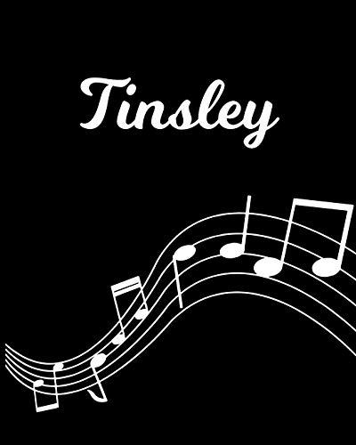 Tinsley: Sheet Music Note Manuscript Notebook Paper – Personalized Custom First Name Initial T – Musician Composer Instrument Composition Book – 12 … Guide – Create Compose & Write Creative Songs