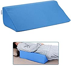 Wedge Pillow Body Position Wedges Back Positioning Elevation Pillow Case Pregnancy Bedroom Eevated Body Alignment Ankle Support Pillow Leg Bolster (Blue)
