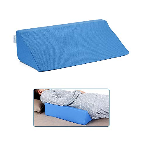 NEPPT Wedge Pillow Body Position Wedges Back Positioning Elevation Pillow Case Pregnancy Bedroom Eevated Body Alignment Ankle Support Pillow Leg Bolster (Blue)