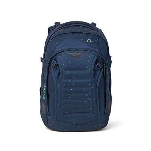satch Match, Space Race ergonomischer Schulrucksack, erweiterbar auf 35 Liter, extra Fronttasche
