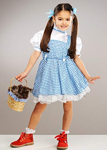 Magic Box Disfraz de Dorothy de Lentejuelas Mago de Oz para niños Small 3-4 Years