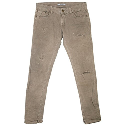 Imperial, Skinny Regular, Damen Jeans Hose, Stretchdenim, wüstenbraun Destroyed, W 30 L 30 [20366]