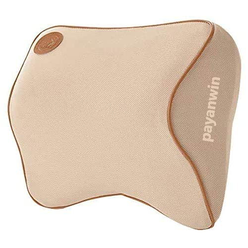 payanwin Car Neck Pillow, Headrest Cushion for Neck Pain Relief&Cervical Support with 1 Adjustable Straps and Washable Cover,100% Pure Memory Foam and Ergonomic Design,Car Seat Neck Pillow ,Beige