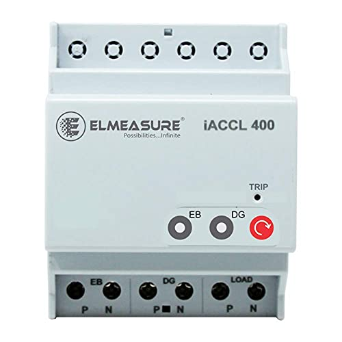 ELMEASURE White, 32A Automatic Changeover with Current Limiter, Single Phase ACCL