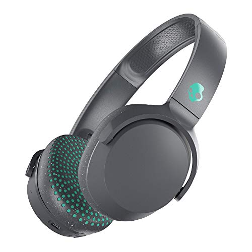 Skullcandy Riff Wireless On-Ear Headphones with Microphone, Bluetooth Wireless, Rapid Charge 12-Hour Battery Life, Foldable, Plush Ear Cushions with Durable Headband, Gray/Speckle/Miami (Renewed)