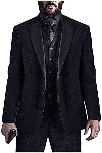 HiFacon Keanu Reeves John Wick Costume pour homme Noir - Noir - XXXL