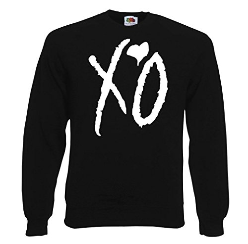 TRVPPY Herren Sweater Pullover Modell XO The Weeknd, Schwarz, L