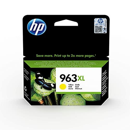 HP 963XL 3JA29AE, Amarillo, Cartucho de Tinta de Alta Capacidad Original, compatible con impresoras de inyección de tinta HP OfficeJet Pro Series 9010, 9020