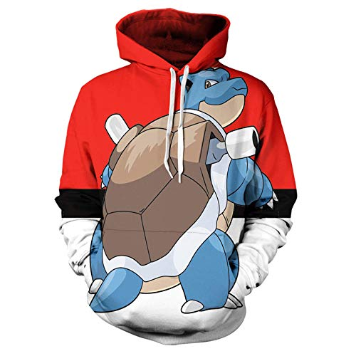 BAOGEGEDE Pullover 3D Printing Men of Pokémon Casual Boys and Girls Pullover Hoodie-Sqbb-998_L