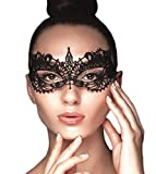 Lace Masquerade Mask Elastic,Fit for Adult,Soft Gentle Material,Specially for Costume,Thememed Party Black