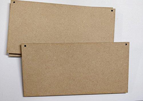 LaserKris Placas madera blanco manualidades, 10 unidades