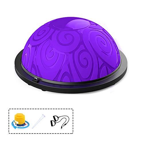 Balance Trainer Fitball Bola de Equilibrio para Entrenamiento,Bola de Equilibrio para Mejorar coordinación Gym Pelota Balón Semiesfera de Resistencia con Inflador y Cables para Pilates,Yoga y Fitness