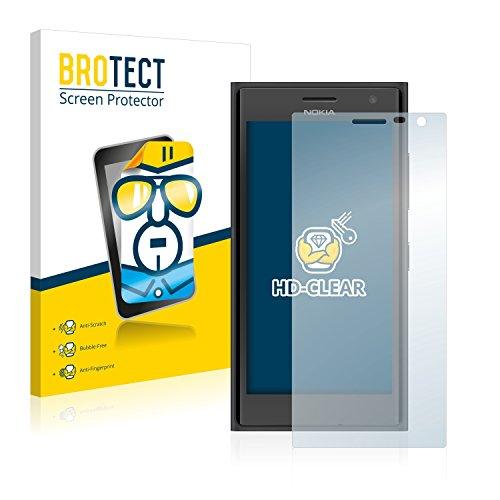 BROTECT Schutzfolie kompatibel mit Nokia Lumia 730 Dual SIM (2 Stück) klare Bildschirmschutz-Folie