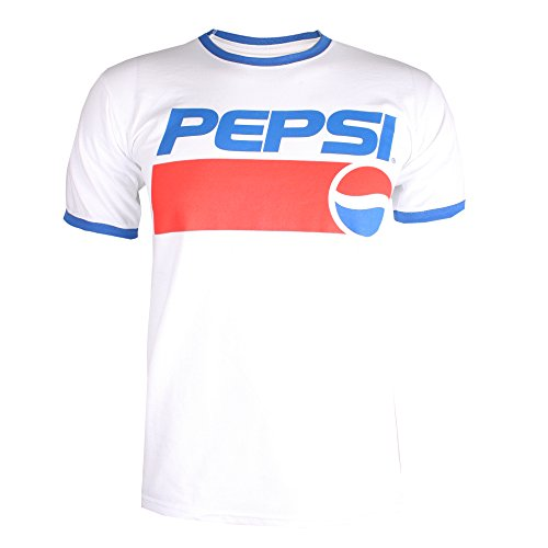 Pepsi Men's 1991 T-Shirt, White (White/Royal Wry), (Size: Large)