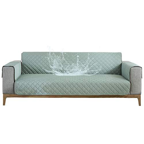 Carvapet Fundas Sofás Impermeable Fundas de Sofá Protector Antideslizante para Muebles de Sofá (Verde Claro, 2 plazas)