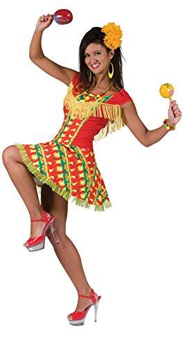 Bristol Novelty AC278 Traje Vestido de mujer Mejicana