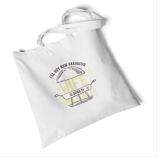 DFJU Leinentasche Frauen Brief Druck Canvas Taschen Einfache Einkaufstaschen Große Student Handtaschen Casual Beach Schultertaschen Neuer Grill