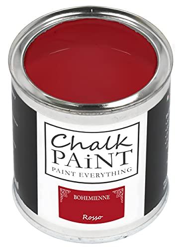 Chalk Paint Rojo 750 ml - Sin cartar Colorea fácilmente todos los materiales