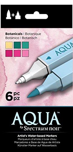 Spectrum Noir SPEC-AQ6-BOT Aqua Watercolor Marker Set, Multi
