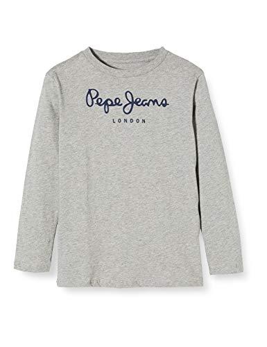 Pepe Jeans Jungen New Herman Jr T-Shirt, Grau (Grey Marl 933), 6-7 Jahre (Herstellergröße: 6)