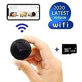 WiFi Spy Camera, Wireless Mini Hidden Camera with Motion Detection Alert, Mini Security