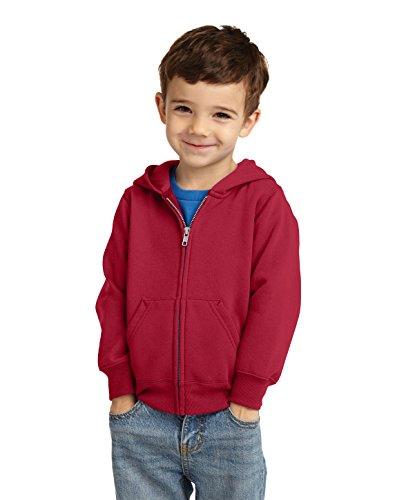 Precious Cargo Unisex-Baby Full Zip Hooded Sweatshirt 2T Red
