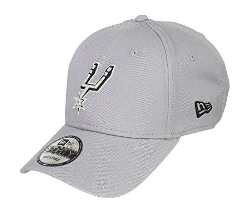 Nueva Era Hombres de la NBA equipo 9FORTY San Antonio Spurs producto oficial equipo color gorra de béisbol, tamaño único), color gris
