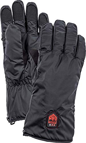 Hestra Heated Glove Liner - Rechargeable Electric Glove Liner for Winter, Skiing, and Snowboarding - Black - 7