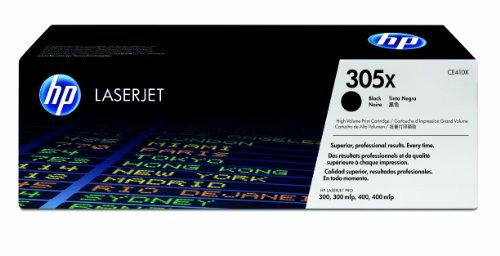 HP 305X CE410X Negro, Cartucho Tóner de Alta Capacidad Original, de 4.000 páginas, para impresoras HP LaserJet Pro Color serie M351, M451, M375 y M475