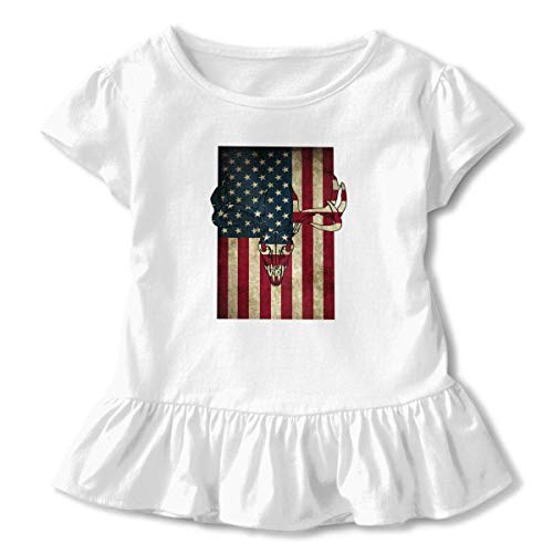 Baby Boy US Army Flag Dad Grandpa Veterans Day Organic T-Shirt Summer Clothes for 2-6 Years Old
