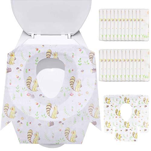 Asiento De Inodoro, Protector WC Desechable, Fundas De Asiento De Inodoro Impermeable Protectores De WC para Niños Adulto (Ardilla forma)